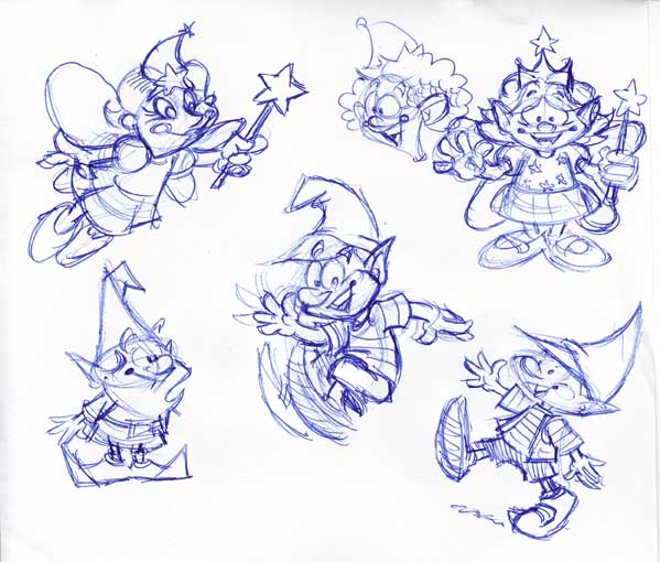 Out Of The Garden Character Roughs