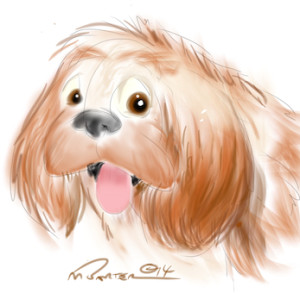 My dog, drawn in Sketchbook Pro for iPad